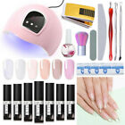18Pcs LILYCUTE Quick Extension Building UV Gel Polish Nail Dryer LED Lamp Kit