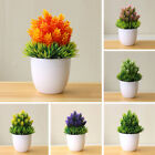 Lovely Artificial Fake Potted Flower Simulation Plant Bonsai Home Accessories Uk