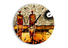 WALL CLOCK - CLOCK ON GLASS People Characters Desert - 12 SHAPES - UK 0659