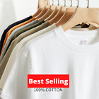 Men's Plain T Shirts 100% Cotton || Stock Clearance Sale 🔥Best Offer