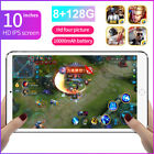 "10"" 4G 8 128GB Tablet PC 10 core Android 10.0 WIFI Dual SIM Triple Camera"