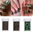 Nail Foils Leopard Wooden Camouflage Print Nail Art Transfer Stickers Decals DIY