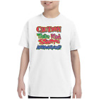 Youth Kids T-shirt Caution This Kid Starts Automatically k-617
