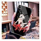 Lovely Betty Boop Tempered Glass case iPhone 6S 7 8 + X XS XR 11 Pro Max SE 2nd $11.07 CAD on eBay