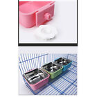 Square Hanging Bowl Pet Bowl Plastic Casing Non Slip Removable Cage Dog Feeding
