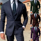 Navy Mens Peak Lapel Suits One Button Groom Formal Party 3 Pieces Tuxedos Custom