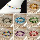 Kyпить Glass Bead Stretch Ankle Bracelet Silver Foil Beads Rainbow Collection на еВаy.соm