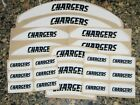 SAN DIEGO CHARGERS Bumper Football Helmet Decal Set Qty (1) Set 3M 20MIL $4.99 USD on eBay