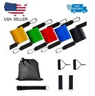 Resistance bands Set Workout with Handles Heavy Tube Exercise Fitness Gym 11PCs image