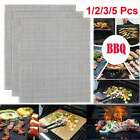 BBQ Grill Mesh Non Stick Mat Reusable Sheet Resistant Cooking Baking Barbecue