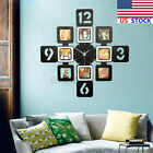 US Art Photo Frame Wall Clock Picture Collage Clock Display Home Office Decor