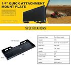 """1/4"""" 5/16"""" 1/2"""" Skid Steer Mount Plate 3 Adapter Loader Quick Tach Attachment"""