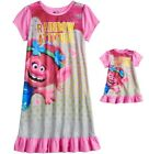 Girls Size 8 Trolls Poppy Nightgown Pajama & Doll Gown Fit American Girl NWT image