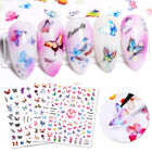 3D Nail Stickers Beautiful Butterfly Transfer Decals Nail Art Decoration Paper
