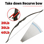 Takedown Recurve Bow 57 inch Hunting & 12PCS Arrows Set Archery Right Left Hand