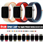 Sport Loop Nylon Woven Band for Apple Watch Series 5 4 3 2 1 40mm 44mm 38mm 42mm image
