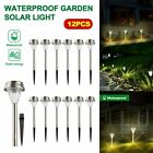 12Pc Outdoor Solar Power Pathway LED Light Garden Landscape Light Yard Lawn Lamp