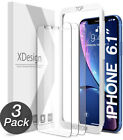 NEW! XDesign iPhone 3-Pack GLASS Screen Protectors, CHOICE: X XR 11 Max PRO XS