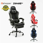 Zenez Gaming Chair Computer Executive Office Chairs Racing Pu Leather Footrest