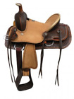 Double T Youth Hard Seat Roper Style Saddle w/ Basket Tooled Leather