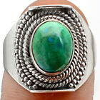 Peruvian Blue Opal 925 Sterling Silver Handmade Ring Jewelry s.8 SDR85501