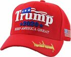 Make America Great Again Our President Donald Trump Slogan with USA Flag Cap Adj
