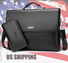 US Business Men's Leather Briefcase Bag Laptop Shoulder Handbag