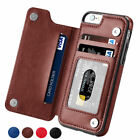 Shockproof Flip Matte Pu Leather Wallet Card Slot Cover Case For Iphone 6 7 8 Xs