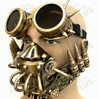Steampunk gas mask Tube Hose Respirator Bullet Goggles Halloween Costume Party