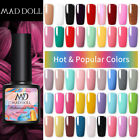 MAD DOLL 8ml Soak Off UV Gel Nail Polish Top Base Coat Nail Art Gel Varnish