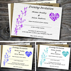 Personalised postcard style wedding / evening invitations with envelopes