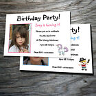 Personalised postcard style birthday invitations with envelopes- all ages-unisex
