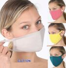 Double Layer Cotton Face Mask Washable Reusable Cloth Soft Fashionable Women Men