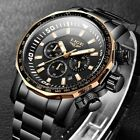 Mens Fashion Business Watches Outdoor Sports Steel Watch Waterproof Wristwatches image