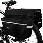 Adjustable Hooks Carrying Handle Reflective Trim Bike Bag Bicycle Panniers