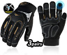 More images of Vgo 3Pairs High Dexterity Heavy Duty Mechanic Work Gloves, Rigger Glove, Impact