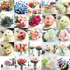 Artificial Silk Fake Flowers Leaf Peony Floral Wedding Bouquet Party Home Decor