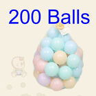 200PCS Colors Baby Plastic Balls Water Pool Play Balls Kids Play House Outdoors
