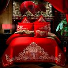 Cotton Palace Baroque Wedding Bedding Set Embroidery Duvet Cover Bed Sheet