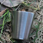 10pcs Stainless Steel Travel Camping Whisky Flask Wine 35ml Wine 1oz Glass B4w0