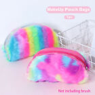 Soft Zipper Pouch Cosmetic Bag Makeup Bag Makeup Brushes Case Plush Pencil Case