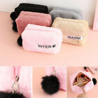 Pouch Toiletry Organizer Bag Makeup Brushes Case Plush Cosmetic Bag Makeup Bag