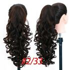 JINKAILI Synthetic Long Wavy Claw Ponytail Clip in Hair Extensions Pony Tail