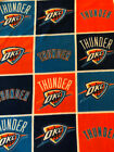Oklahoma City Thunder OKC BLANKET FLEECE Fabric by Yard or 1/2 Yard on eBay
