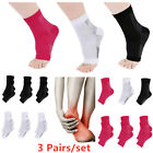 3 Pairs Ankle Brace Sleeve Compression Socks Plantar Fasciitis Pain Relief Sock
