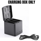 TELESIN GoPro Battery+Charging Box For Hero 8 7 6 5 Black 3 Slot Charger Storage