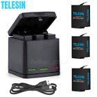 Kyпить TELESIN GoPro Battery+Charging Box For Hero 8 7 6 5 Black 3 Slot Charger Storage на еВаy.соm