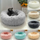 Round Calming Cat Bed Comfy Pet Puppy Dog Soft Plush Kennel Nest Cushion 7 Color