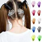 Halloween Party Zombie Skull Skeleton Hand Bone Claw Hair Clip Hairpin 1pcs A8l1