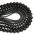 Natural Gemstone Black Dull Polish Matte Onyx Stone Loose Beads 4 6 8 mm